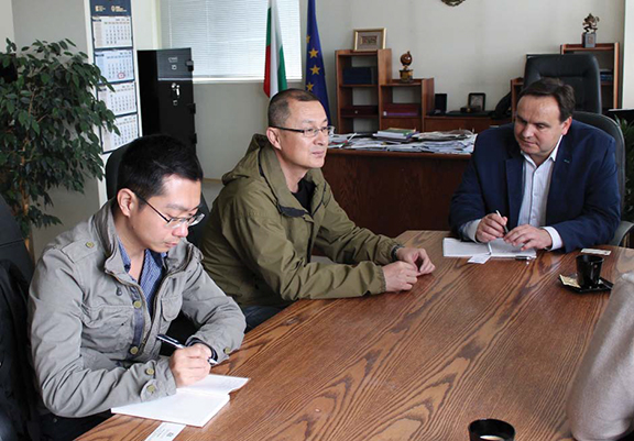Среща между Николай Григоров и китайска строителна компания - Габрово