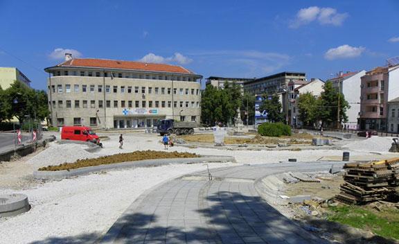 Ремонт на кръговото при Консултативна поликлиника в Габрово