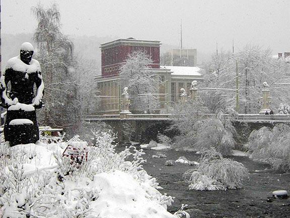 Рачо Ковача в Габрово през зимата