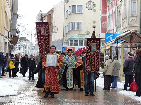 Литийно шествие на Богоявление в Габрово 2015