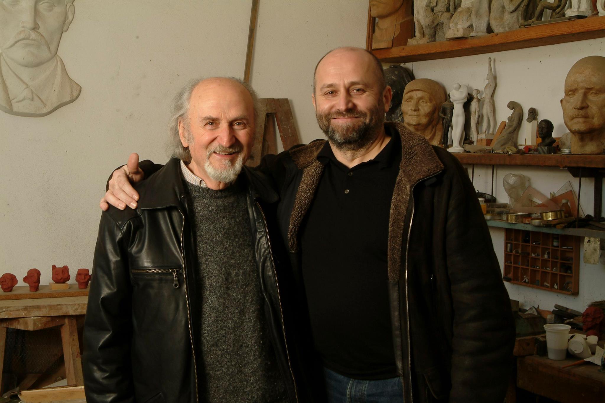 Недко Солаков и баща му Митьо Солаков