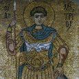 Св. Димитър Солунски. Мозайка от XII в. в киевски манастир © pravoslavieto.com