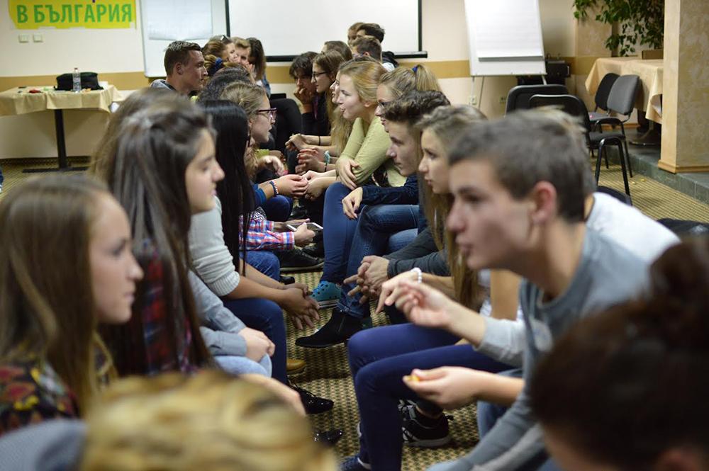 Участници в Национална среща на ученическите съвети и парламенти в Хасково, 2015 © СУБ