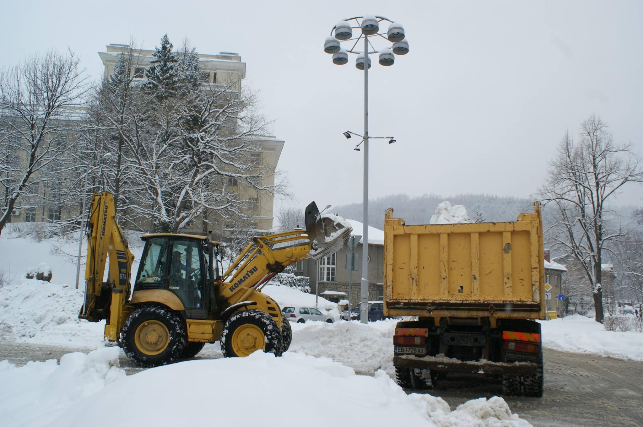 Снегопочистване в Габрово © Община Габрово