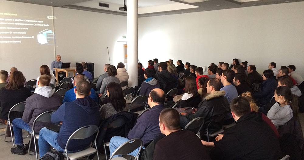 По време на безплатен IT курс, организиран от FFW Габрово съвместно със СофтУни София © FFW Габрово