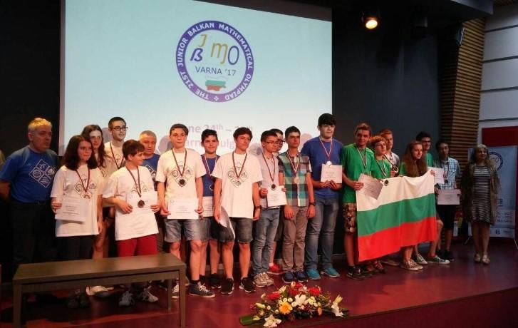 Български ученици спечелиха 18 медала от XXI Младежка Балканска олимпиада по математика за деца до 15,5 години © Министерство на образованието и науката