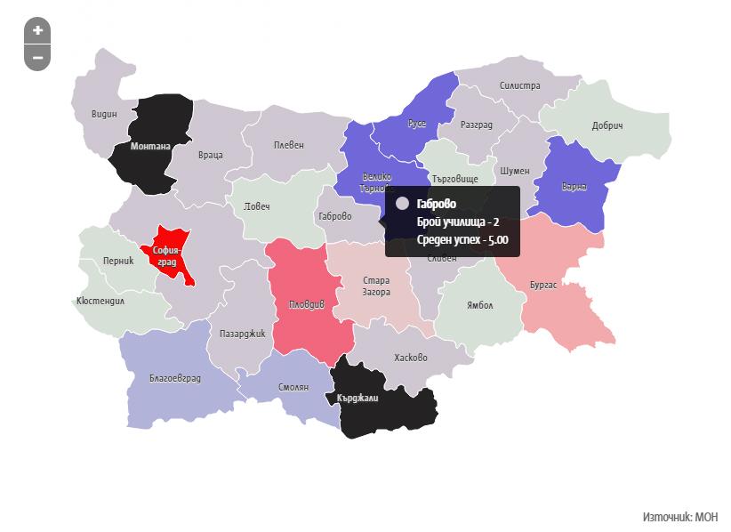 Класация на средните училища в България според резултатите от матурата по БЕЛ 2017