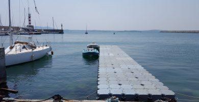 Новият плаващ кей на Пристанище Бургас