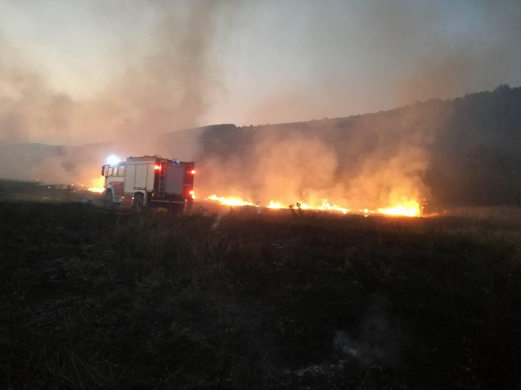 Пожар в землището на с. Кози рог © РСПБЗН - Габрово