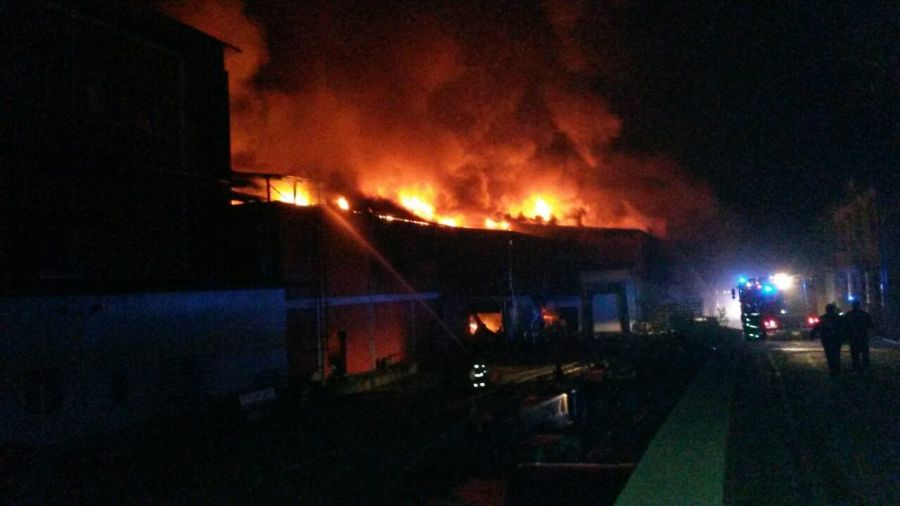 Пожар във Велико Търново на 6 ноември 2017 © РСПБЗН – Габрово