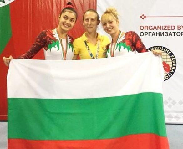 Сестрите Христина и Мариела Пеневи втори в света на XXV-то Световно първенство по скокове на батут за юноши и девойки до 21 години © sport-gabrovo.com
