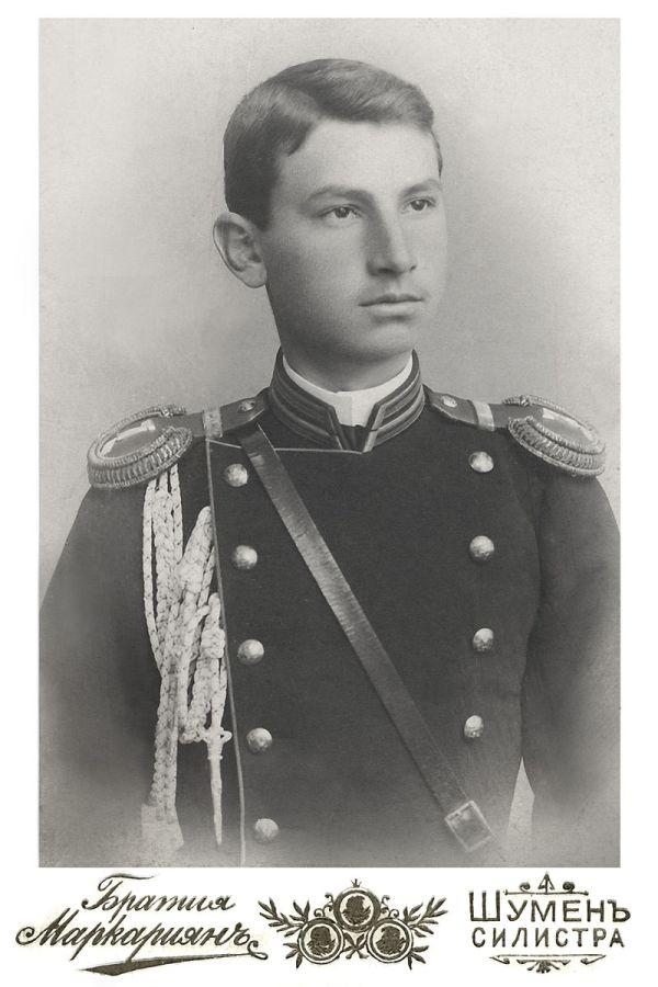 Снимка на ген. Руси Русев подарена на неговите родители и близки на 24.11.1900 г. (от Шумен)