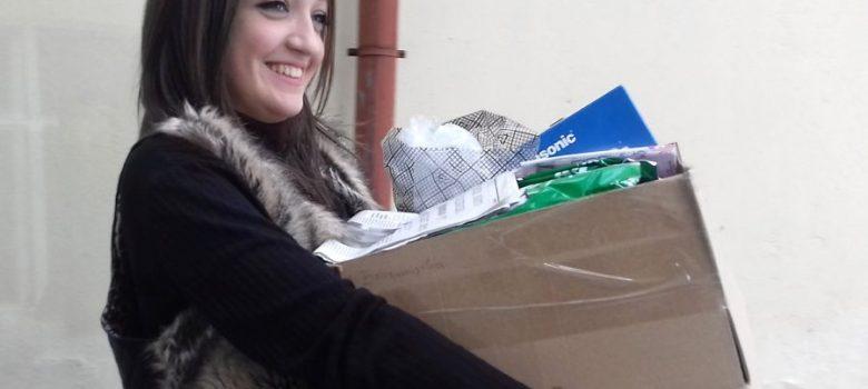 Ученици от Национална Априловска гимназия предадоха 420 кг хартиени отпадъци © СИП журналистика, НАГ