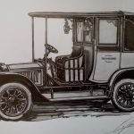 Laurin & Klement GDV 1909-1917. Рисунка: Стефан Иванов