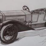 Laurin & Klement RK 1913-1915. Рисунка: Стефан Иванов