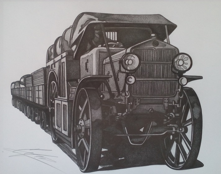 Шкода U трактор. Рисунка: Стефан Иванов
