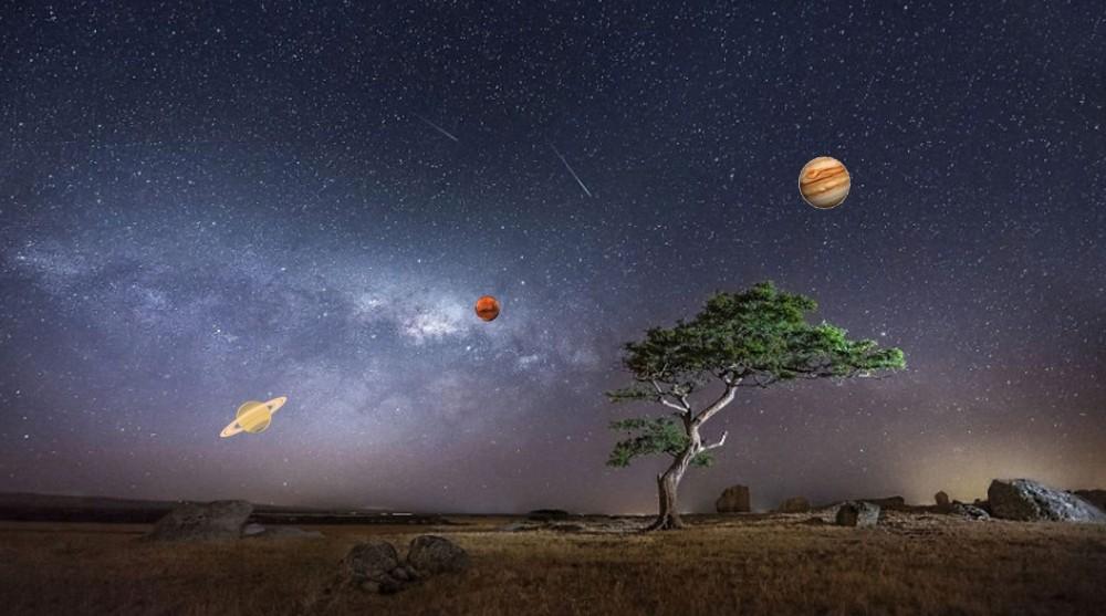 Малък парад на планетите. Източник: Обсерватория и планетариум Габрово