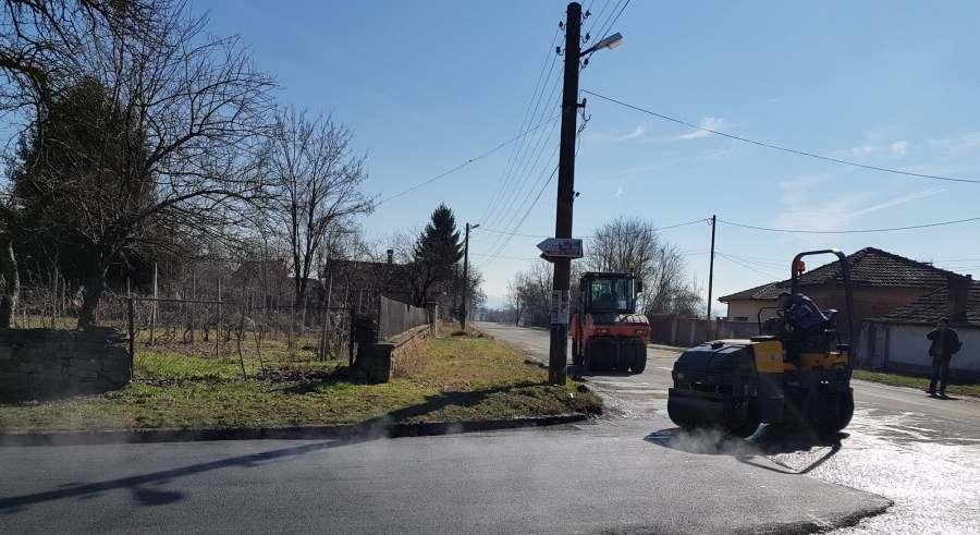 Ремонт на улиците в селата в Община Севлиево