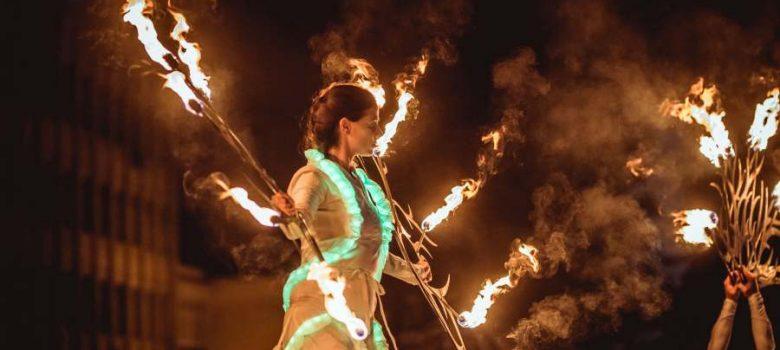 6Fest 2018, Светлинен карнавален парад на Fireter © Георги Сивилов
