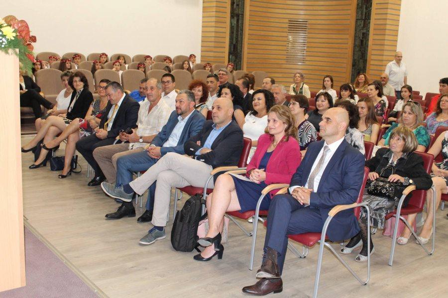 """Официалните гости на тържественото отбелязване на 132-годишнината на в. """"Росица"""" © Областна администрация Габрово"""