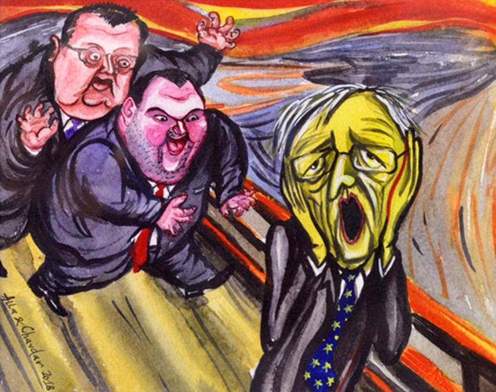 Карикатура на Алла и Чавдар Георгиеви