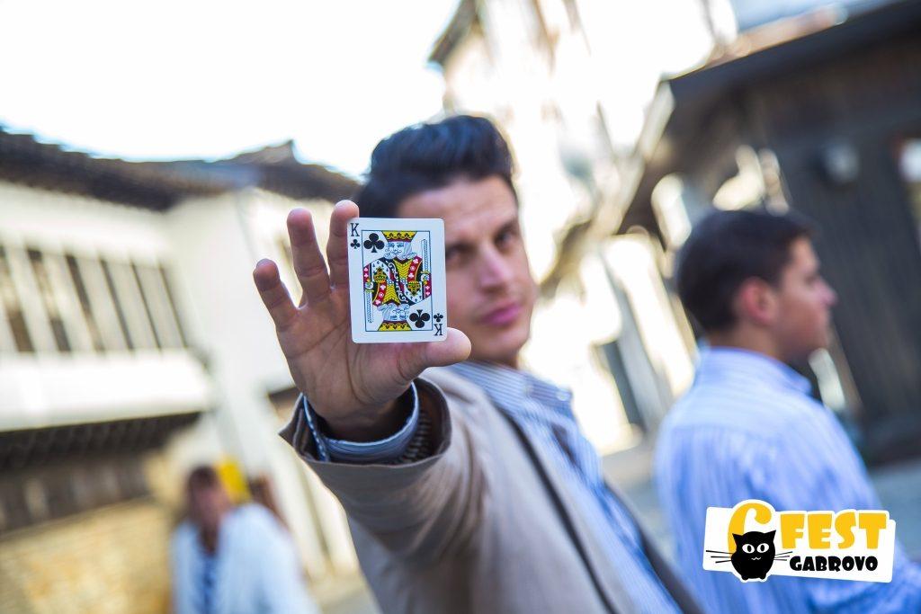 Най-известният габровски магьосник Дани Белев на Фестивал за улични изкуства 6Fest Габрово, 6 октомври 2018 © 6Fest, фотограф: Eli Deli