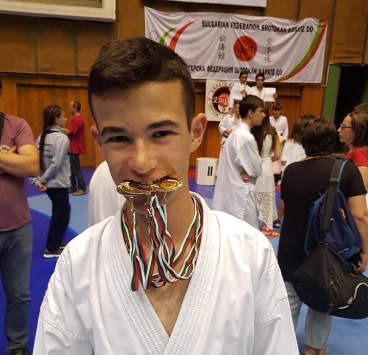 Иван Димитров на международното състезание Sofia grand prix, 11.11.2018. Снимка: Личен архив