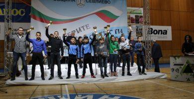Момент от награждаването на най-добрите спортисти на Севлиево за 2018 г. © Община Севлиево