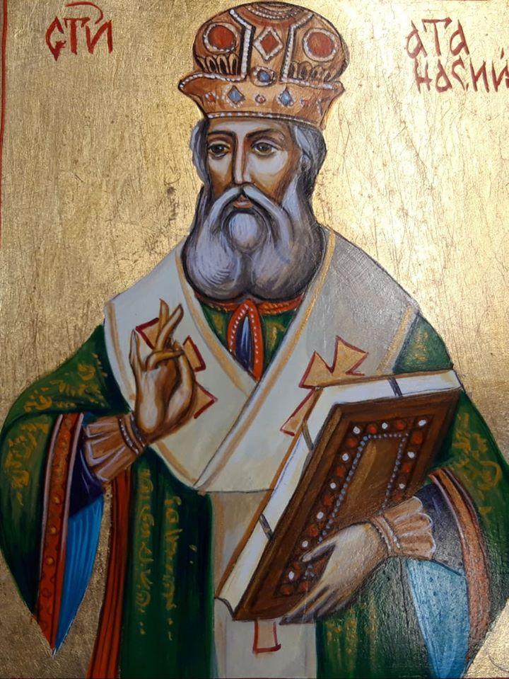 Св. Атанас, икона на Пламен Малинов, Иконописно ателие в музей ЕТЪР © ЕМО Етър