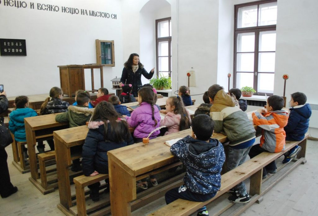 """Деца от детска градина """"Радост"""" в Национален музей на образованието © НМО"""