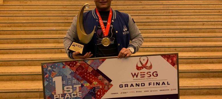 Виктор Дянков от българския отбор шампион на Световното първенство по електронни спортове. Снимка: Личен архив